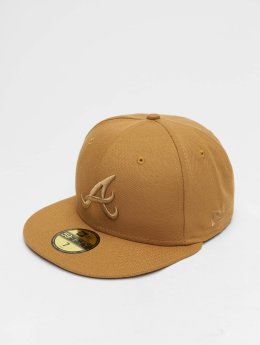 New Era Casquette Fitted MLB League Essential Atlanta Braves 59 Fifty beige