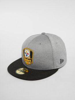 New Era Casquette Fitted NFL Pittsburgh Steelers 59 Fifty gris