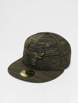New Era Casquette Fitted NBA Engineered Fit Chicago Bulls 59 Fifty olive