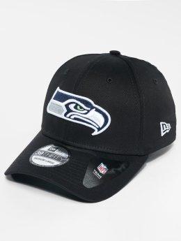 New Era Casquette Flex Fitted NFL Base Seattle Seahawks noir