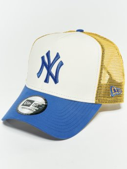 New Era Casquette Trucker mesh MLB Nylon New York Yankees 9 Fourty Aframe blanc