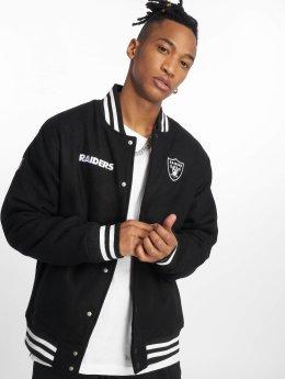 New Era Cazadora bomber NFL Team Oakland Raiders negro