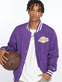 New Era Cazadora bomber NBA Team Los Angeles Lakers púrpura