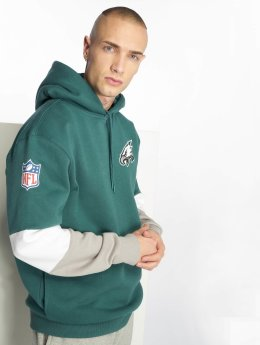 New Era Felpa con cappuccio Nfl Colour Block Philadelphia Eagles verde