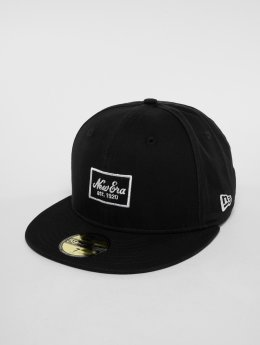 New Era Fitted Cap Script Pk 59 Fifty čern