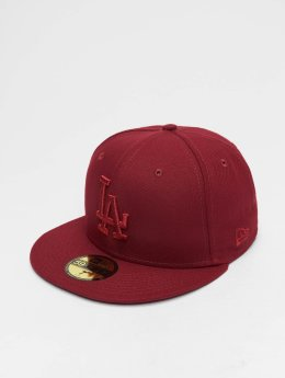 New Era Fitted Cap MLB League Essential Los Angeles Dodgers 59 Fifty červený