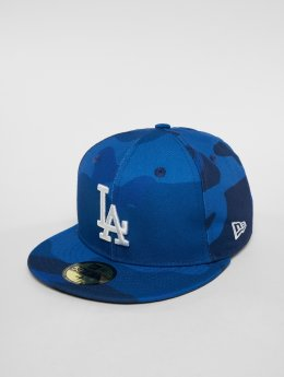 New Era Fitted Cap MLB Camo Colour Los Angeles Dodgers 59 Fifty blauw