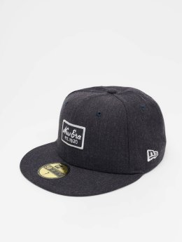 New Era Fitted Cap Heather 59 Fifty modrá