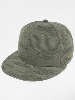 New Era Fitted Cap 3D Camo olijfgroen