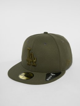 New Era Fitted Cap MLB Diamond Los Angeles Dodgers 59 Fifty olivový
