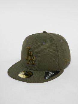 New Era Fitted Cap MLB Diamond Los Angeles Dodgers 59 Fifty oliwkowy