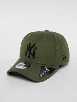 New Era Flexfitted Cap MLB Diamond New York Yankees 39 Thirty olijfgroen