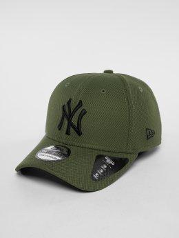 New Era Flexfitted Cap MLB Diamond New York Yankees 39 Thirty olijfgroen