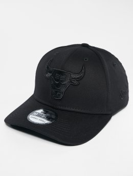 New Era Flexfitted Cap NBA Chicago Bulls schwarz