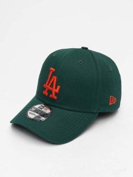 New Era Flexfitted Cap MLB League Essential Los Angeles Dodgers 39 Thirty zielony