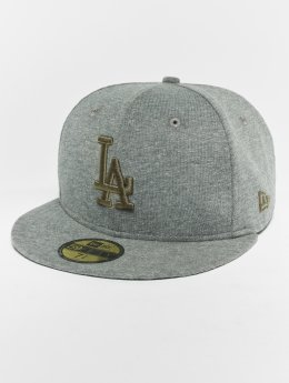 New Era Gorra plana MLB Essential Los Angeles Dodgers 59 Fifty gris