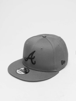 New Era Gorra Snapback MLB League Essential Atlanta Braves 9 Fifty gris