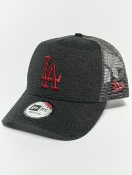 New Era Gorra Trucker MLB Essential Los Angeles Dodgers 9 Fourty Aframe gris