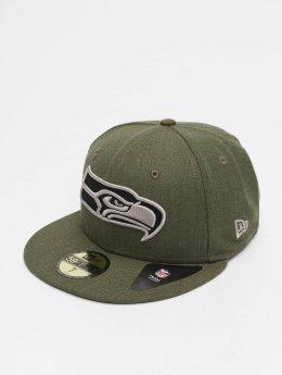 New Era Hip hop -lippikset NFL Heather Seattle Seahawks 59 Fifty vihreä