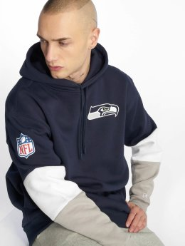 New Era Hoodie Nfl Colour Block Seattle Seahawks blå