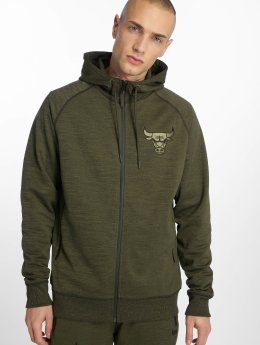 New Era Hoody NBA Engineered Fit Chicago Bulls olijfgroen