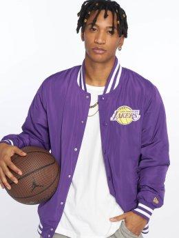 New Era Letecká bunda NBA Team Los Angeles Lakers fialový