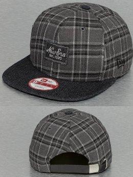 New Era Snapback Cap Denplaid 9Fifty grau