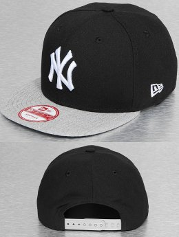 New Era Snapback Cap Pop Heather NY Yankees schwarz
