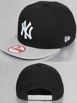 New Era Snapback Cap Pop Heather NY Yankees schwarz