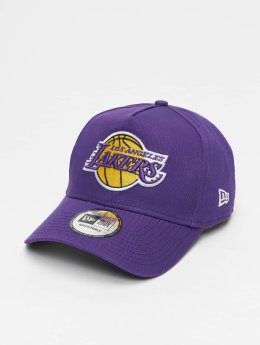 New Era Snapback Caps NBA Team Los Angeles Lakers 9 Fourty Aframe fialový