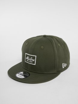 New Era Snapback Caps Script PK None 9 Fifty oliwkowy