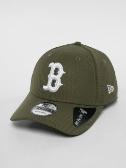 New Era Snapback MLB Diamond Bosten Red Sox 9 Fourty olivová