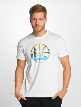 New Era T-Shirt NBA Coastal Heat Infill Golden State Warriors blanc