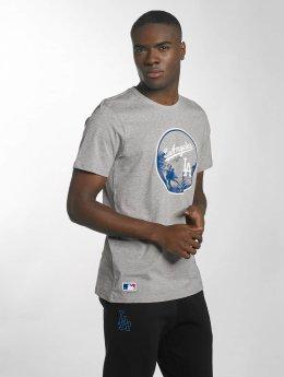New Era T-Shirt MLB Landmark LA Dodgers grau