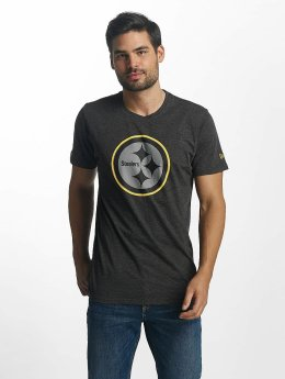 New Era Two Tone Pop Pittsburgh Steelers T-Shirt Heather Graphite/Offical Team Colour