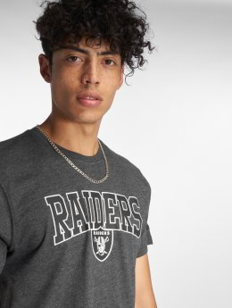 New Era T-shirt NFL Team Oakland Raiders Script grigio