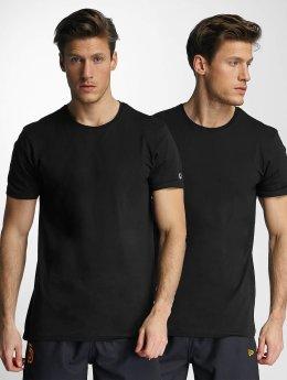 New Era T-Shirt 2er Pack Pure noir