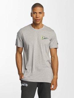 New Era NFL Pennant Seattle Seahawks T-Shirt Light Grey Heather