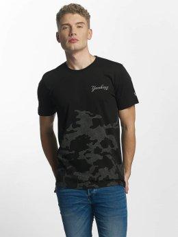 New Era T-Shirty Reflective Camo czarny