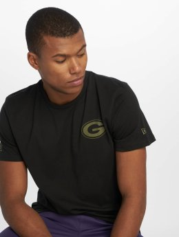 New Era T-skjorter Nfl Camo Collection Green Bay Packers svart