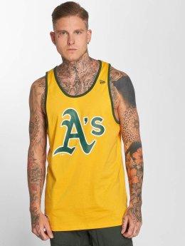 New Era Tanktop Team Apparel Oakland Athletics geel