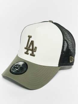 New Era Trucker Caps MLB Nylon Los Angeles Dodgers 9 Fourty Aframe hvit
