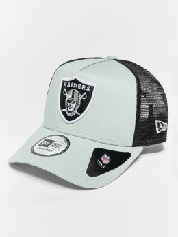 New Era Verkkolippikset NFL Team Essential Oakland Raiders 9 Fourty Aframe Trucker Cap harmaa