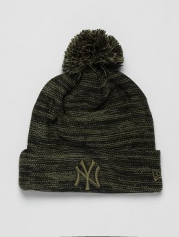 New Era Wintermütze MLB Cuff New York Yankees olive