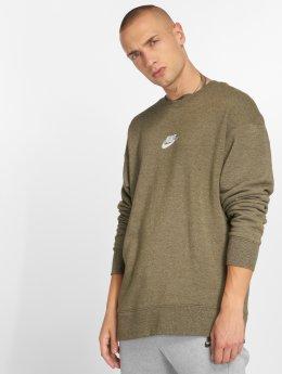 Nike Пуловер Sportswear Heritage оливковый