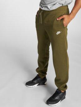Nike Спортивные брюки NSW CF FLC оливковый