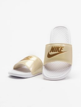 Nike Badesko/sandaler Benassi Just Do It hvit