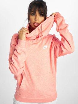Nike Bluzy z kapturem Funnel Neck pink