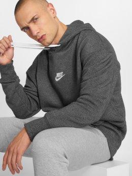 Nike Bluzy z kapturem Sportswear Heritage szary