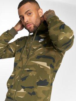 Nike Hoodies con zip Sportswear Club Camo mimetico